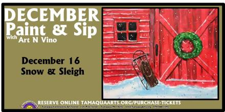 12-16-2015, Paint & Sip with Art N' Vino - Snow & Sleigh, Tamaqua Community Arts Center, Tamaqua