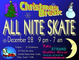 12-28-2015, All Skate Nite, The Strand Roller Rink, McAdoo