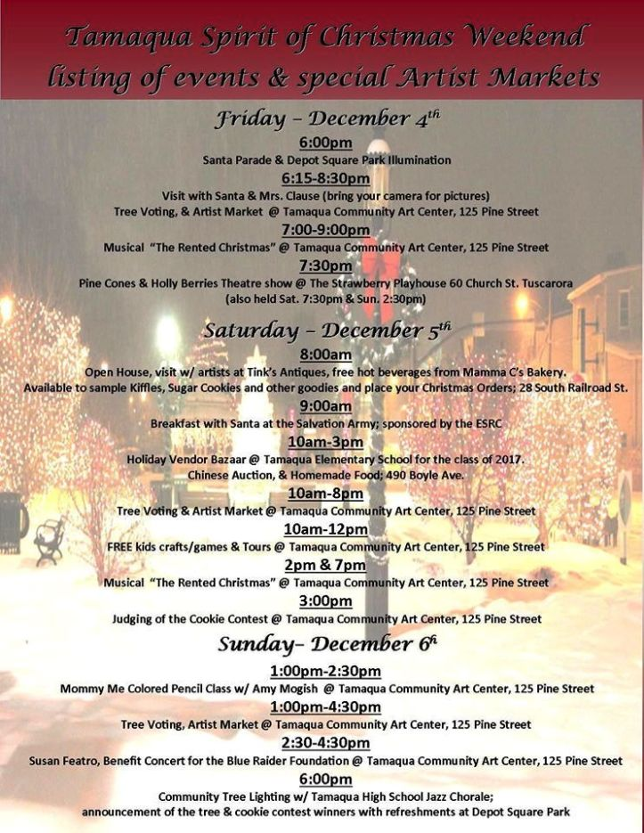12-4, 5, 6-2015, Tamaqua Spirit of Christmas Festival, Tamaqua