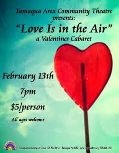 2-13-2016, Performance of Love Is In The Air, Tamaqua Community Arts Center, Tamaqua