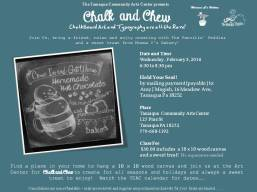 2-3-2016, Chalk & Chew, Homemade Hot Chocolate, Tamaqua Community Arts Center, Tamaqua
