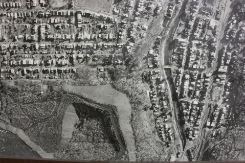 Aerial Photograph of Tamaqua, Borough Hall, Tamaqua, 1970s (105)