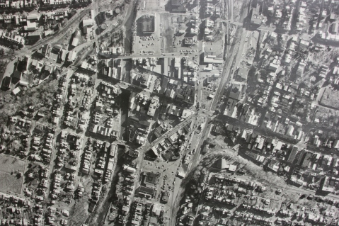 Aerial Photograph of Tamaqua, Borough Hall, Tamaqua, 1970s (82)