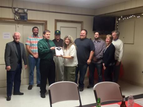 Black Diamond Award, Lansford Alive, submitted, at American Legion, Lansford, 12-11-2015 (1)