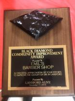 Black Diamond Award, Lansford Alive, submitted, at American Legion, Lansford, 12-11-2015 (5)