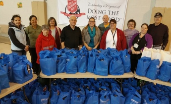 Food Basket Distribution, Tamaqua Salvation Army, Tamaqua, 11-23-2015 (13)