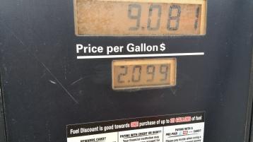 Gas Prices, Turkey Hill, Tamaqua, 12-8-2015 (2)