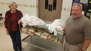Hoagie Fundraiser benefits Tamaqua Library, at St. John's United Church of Christ, Tamaqua, 12-15-