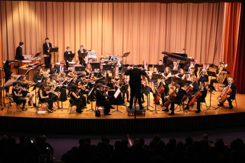 Holiday Concert via Gabriel Youth Orchestra, Lengel Auditorium, Pottsville MS (1)