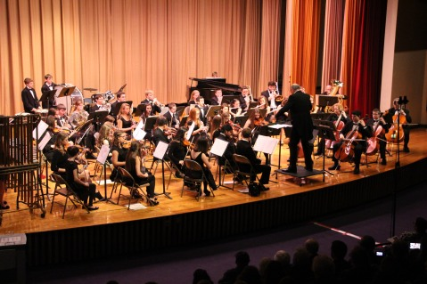 Holiday Concert via Gabriel Youth Orchestra, Lengel Auditorium, Pottsville MS (20)