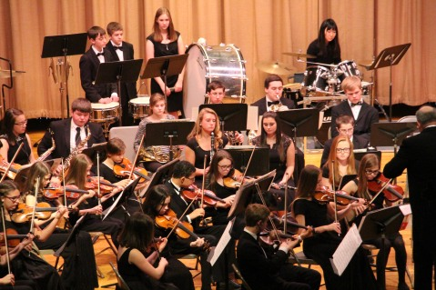 Holiday Concert via Gabriel Youth Orchestra, Lengel Auditorium, Pottsville MS (76)