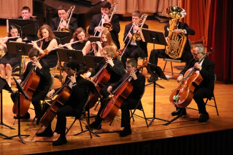 Holiday Concert via Gabriel Youth Orchestra, Lengel Auditorium, Pottsville MS (9)