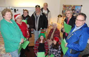 Parishioners of St John UCC in Tamaqua Go Caroling, St Luke's Hospital, Coaldale, 12-20-2015 (7)