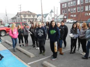 PV Students Paint Store Fronts, submitted, via Lansford Alive, Lansford, 12-11-2015 (36)