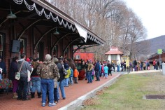 Santa Train Rides, via Tamaqua Historical Society, Train Station, Tamaqua, 12-19-2015 (26)