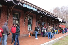 Santa Train Rides, via Tamaqua Historical Society, Train Station, Tamaqua, 12-19-2015 (27)