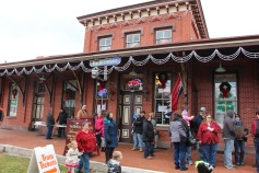 Santa Train Rides, via Tamaqua Historical Society, Train Station, Tamaqua, 12-19-2015 (28)
