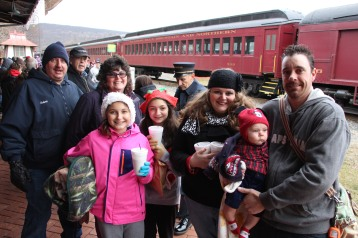 Santa Train Rides, via Tamaqua Historical Society, Train Station, Tamaqua, 12-19-2015 (41)