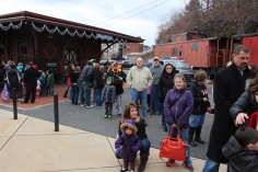Santa Train Rides, via Tamaqua Historical Society, Train Station, Tamaqua, 12-19-2015 (47)
