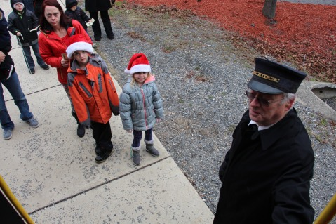 Santa Train Rides, via Tamaqua Historical Society, Train Station, Tamaqua, 12-19-2015 (54)