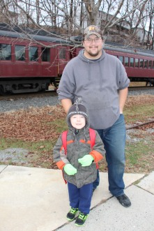 Santa Train Rides, via Tamaqua Historical Society, Train Station, Tamaqua, 12-19-2015 (57)
