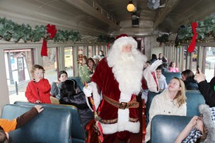 Santa Train Rides, via Tamaqua Historical Society, Train Station, Tamaqua, 12-19-2015 (83)