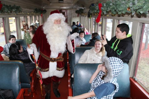 Santa Train Rides, via Tamaqua Historical Society, Train Station, Tamaqua, 12-19-2015 (84)