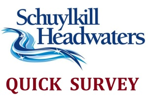 Schuylkill Headwaters Association logo, banner, SURVEY