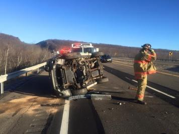 SUV Overturns, near mile marker 138, Kline Township, 12-6-2015 (3)
