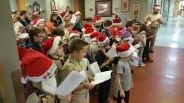 Tamaqua Cub Boy Scouts Sing Carols to Residents, St. Luke's Hospital, Coaldale (1)