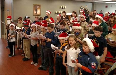 Tamaqua Cub, Boy Scouts Sing Carols to Residents, St. Luke's Hospital, Coaldale (1)
