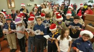Tamaqua Cub Boy Scouts Sing Carols to Residents, St. Luke's Hospital, Coaldale (2)