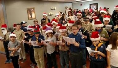 Tamaqua Cub, Boy Scouts Sing Carols to Residents, St. Luke's Hospital, Coaldale (2)