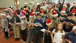 Tamaqua Cub Boy Scouts Sing Carols to Residents, St. Luke's Hospital, Coaldale (3)