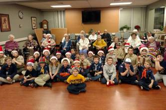 Tamaqua Cub, Boy Scouts Sing Carols to Residents, St. Luke's Hospital, Coaldale (3)