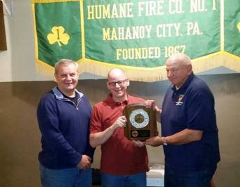 Tony Blackwell, Mahanoy City Fire Department's Person of the Year, MC (2)