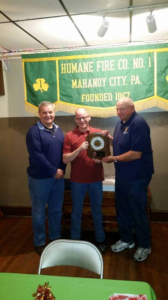 Tony Blackwell Recognized for Mahanoy City Fire Department's Person of the Year, Mahanoy Ci