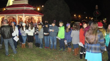 Tree Lighting, Spirit of Christmas Festival, Depot Square Park, Tamaqua, 12-6-2015 (1)