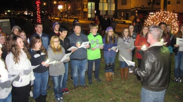 Tree Lighting, Spirit of Christmas Festival, Depot Square Park, Tamaqua, 12-6-2015 (13)