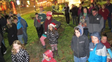 Tree Lighting, Spirit of Christmas Festival, Depot Square Park, Tamaqua, 12-6-2015 (8)