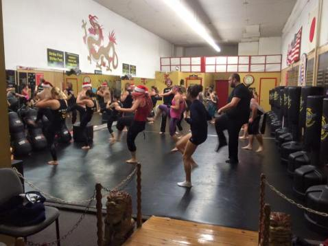 USA Martial Arts Holds Kickboxing For Toys For Tots, USA Martial Arts, Tamaqua, 12-12-2015 (1)