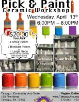 4-13-2016, Pick and Paint Ceramic Workshop, Tamaqua Community Arts Center, Tamaqua