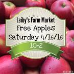 4-16-2016, Free Apples, Leiby's Farm Market, Tamaqua