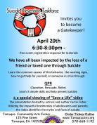 4-20-2016, Suicide Prevention Taskforce event, Tamaqua Community Arts Center, Tamaqua
