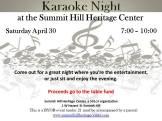 4-30-2016, Karaoke Night, Summit Hill Heritage Center, Summit Hill