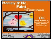 4-30-2016, Mommy and Me Paint, Tamaqua Community Arts Center, Tamaqua