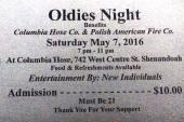 5-7-2016, Oldies Night, Columbia Hose, Shenandoah
