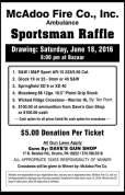 6-18-2016, Sportsman Raffle, McAdoo Fire Company, McAdoo