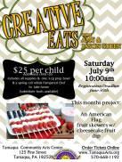 7-9-2016, Creative Eats, Child's American flag fruit skewers, Tamaqua Community Arts Center, Tamaqua