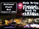 8-2-2016, Fireworks Back To Tamaqua, via National Night Out, Tamaqua